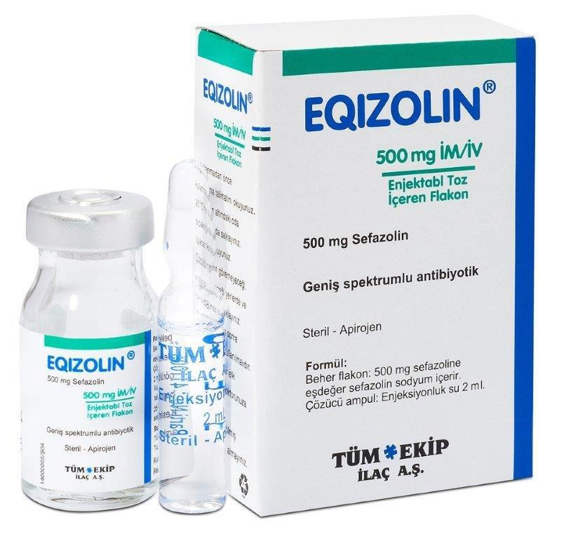 EQIZOLIN 500 MG IM/IV VIAL